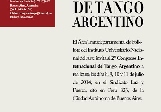 TangoCreativo en el Congreso Internacional de Tango del IUNA